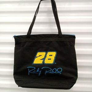 #28 Ricky Rudd Zippered Canvas Tote Bag Purse